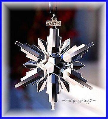 2006 Swarovski~Snowflake STAR Annual Christmas ORNAMENT~ NIB~ Large Triangle Box