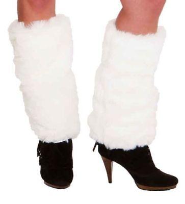 Orl - Fellstulpen in weiß Stulpen zum Kostüm an Karneval Fasching