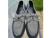 All Saints Mens Suede Leather Shoes Loafers, 8.5/42