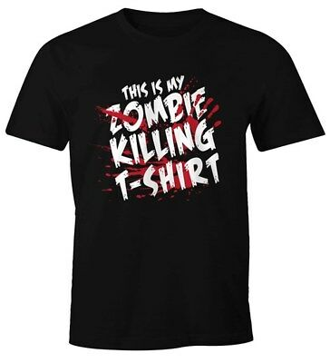 Herren T-Shirt This is my Zombie killing T-Shirt Halloween Horror Fun-Shirt - This Is Halloween Horror
