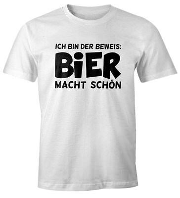 Ich bin der Beweis Bier macht schön Herren T-Shirt Trink Spruch-Shirt Moonworks® - Bier Bin