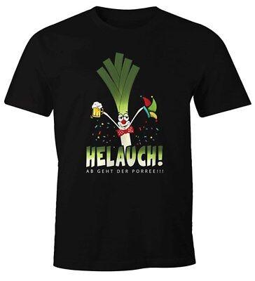 Herren T-Shirt Karneval Fasching Fastnacht Helauch Lauch Helau lustig Fun-Shirt