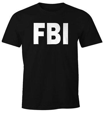Herren T-Shirt FBI Fun-Shirt Faschings-Shirt Kostüm Verkleidung - Fun Herren Kostüm