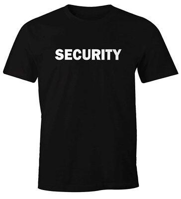 Herren T-Shirt Security Fasching Karneval Fun-Shirt Moonworks®