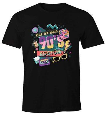 Herren T-Shirt Das ist mein 90s Kostüm 90er Neunziger Fasching Karneval