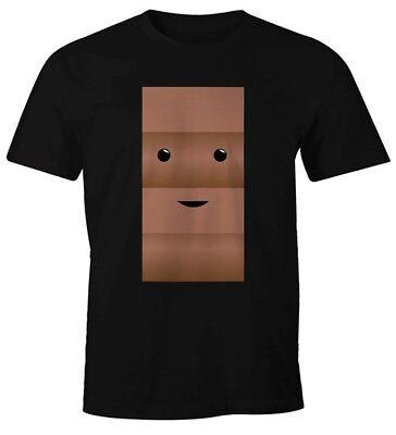 Herren T-Shirt T-Shirt Milch und Schokolade Kostüm Parnterkostüm Pärchen Kostüm