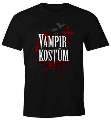 Herren T-Shirt Vampir-Kostüm Faschings-Shirt Karneval Fastnacht - Kostüme Vampir Shirt