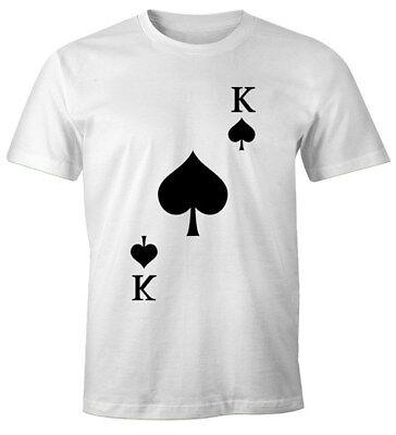 Herren T-Shirt Kartenspiel Kostüm Spielkarten Gruppenkostüm Karten (Gruppe Karte Kostüm)