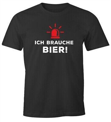 Bier-lustiges T-shirt (Herren T-Shirt Ich brauche Bier! lustiges Trink Shirt Saufen Bier Party)