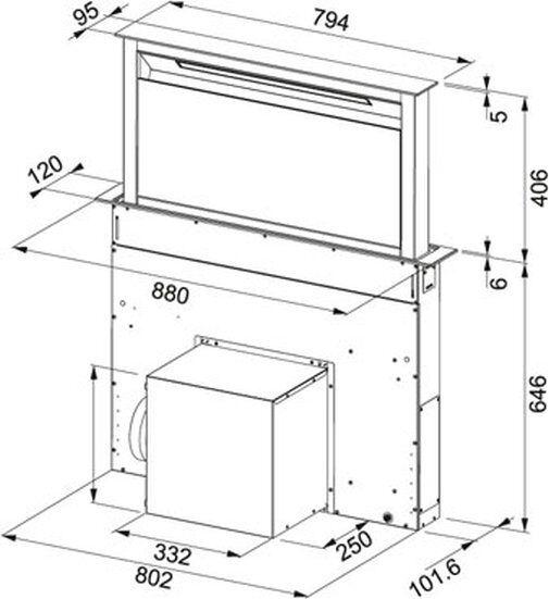 franke dawn dunstabzugshaube fabula tischhaube 90 cm glas. Black Bedroom Furniture Sets. Home Design Ideas