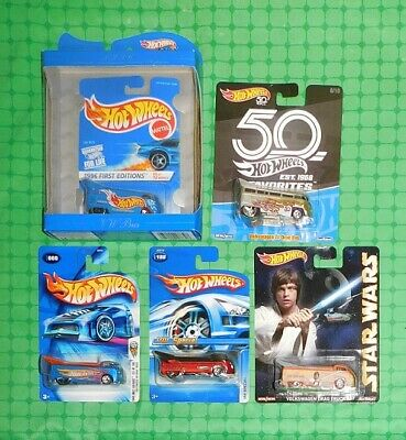 Hot Wheels Volkswagen Drag Bus & Drag Truck - Lot of 5 - Anniversary Edition