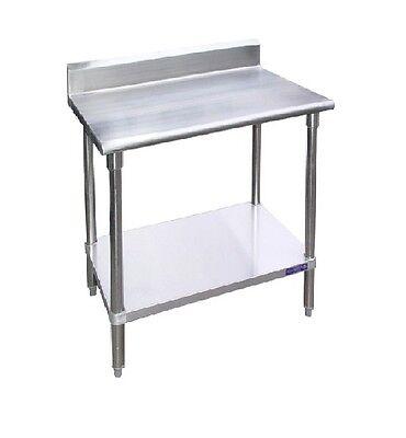 New Commercial 24 X 24 Stainless Steel Work Table Undershelf W 5 Back Splash