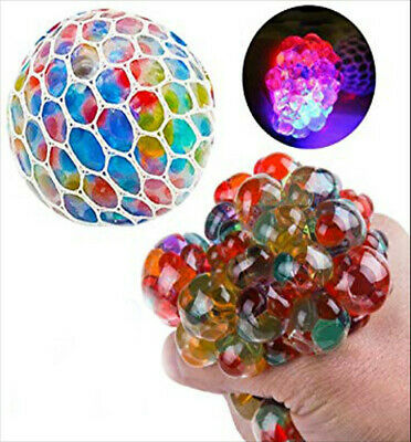 1 Squishy bead filled squeeze stress ball kids autism fidget ](Squishy Stress Balls)