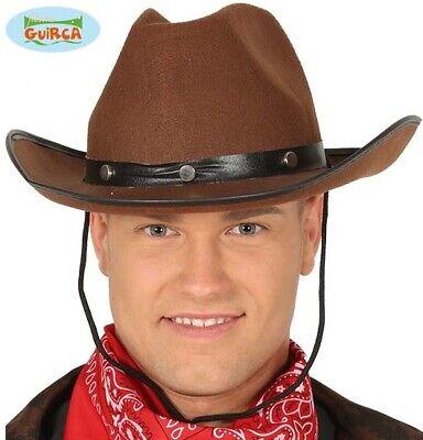 Herren Erwachsene Cowboy Kostüm Hut Braun Haltbar Filzhut Neu - Bär Hut Kostüm