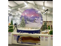 Giant snow globe for sale..great opportunity for event photography