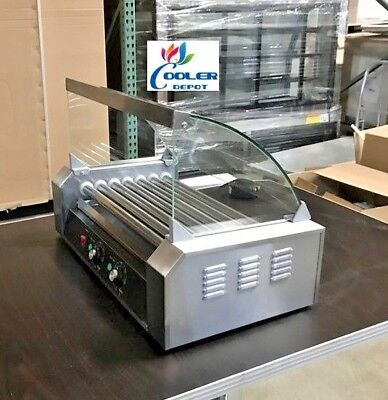 New Hot Dog Snack 7 Roller W Cover Vending Machine Counter Top Nsf Etl Certified