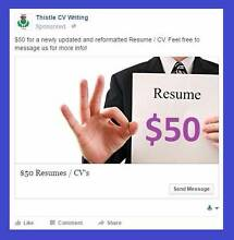 Thistle CV Writing Jandakot Cockburn Area Preview