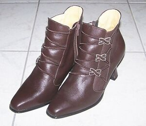 Women's Leather Ankle Boots - brown London Ontario image 1