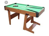 Pool table Fold away