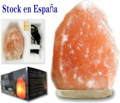 3-4kg Natural Del Himalaya Cristal Lámpara de Sal Cable Bombilla Lámpara de...