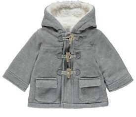Grey Duffle coat 3-6 months
