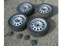 4x100 vw steel wheels. Fit BMW e30, Golf, Lupo, Seat Polo