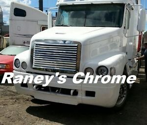 Freightliner FL Century Hood Grill w 12 Louvers SS