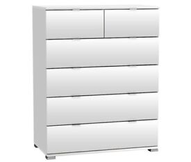 Wooden Chest Of Drawers In Pearl White