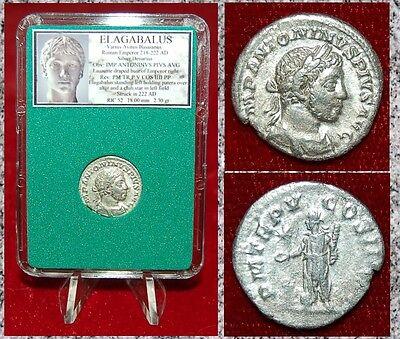 Roman Empire Elagabalus Sacrificing Over Altar Beautiful Silver (Sacrificing Over Altar)