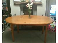 LOVELY SOLID PINE WOOD LARGE OVAL DINING TABLE - IDEAL FOR CHRISTMAS OR A SHABBY CHIC PROJECT
