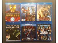 6 MARVEL Blueray Movies Bundle