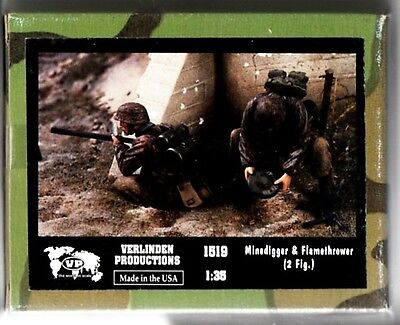VERLINDEN 1519 MINEDIGGER FLAMETHROWER 2 Fig 1/35 RESIN KIT NUOVO
