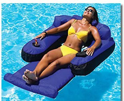 Swimline Core Covered Swimming Pool Lake Pond Inflatable Floating Chair Salon