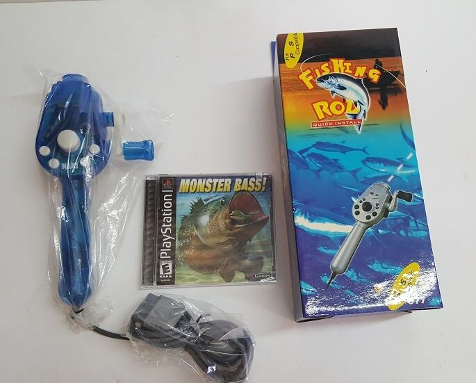 Fishing Rod Pole Controller & Monster Bass Game For Plays...