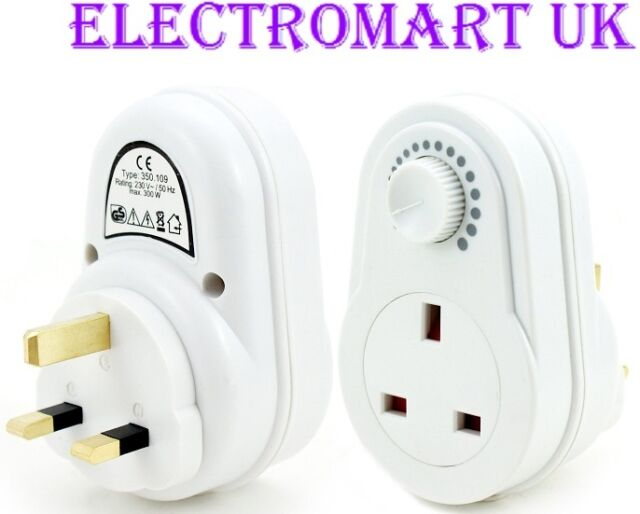 13A PLUG IN DIMMER SWITCH CONTROLLER LIGHT LAMP