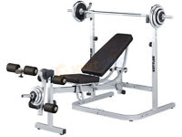 Kettler Delta adjustable solid weight bench.