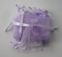 10 Small Lilac Organza Gift Pouches/bags With Drawstring - unbranded - ebay.co.uk