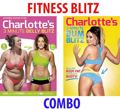 CHARLOTTE CROSBY'S 3 MINUTE BELLY & BUM BLITZ DVD FITNESS WORKOUT HOME NEW BOXED