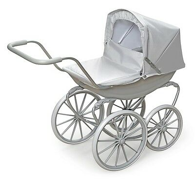 Kids Girls Pretend Play London Doll Pram Executive Gray Toy Stroller Grey NEW