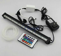 Aquarium LED Underwater Bubble Light Lamp +Remote