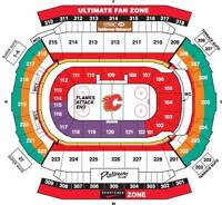2 CALGARY FLAMES TICKETS VARIOUS GAMES  TICKETS 2014-2015