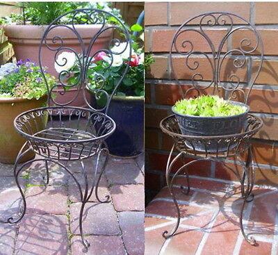 pflanz SUPPORTO SEDIA Vaso da fiori per decorazione giardino piante Metallo