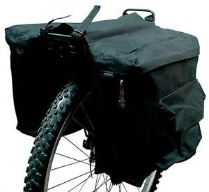 Etc-Bike-Cycle-Double-Pannier-Rack-Storage-Luggage-Bag-600D-Material-Black-PB14C