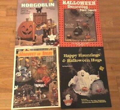 4 tole bks Halloween - Happy Hauntings, Painting a Hobgoblin, harvest ideas,dec](Halloween Painting Ideas)