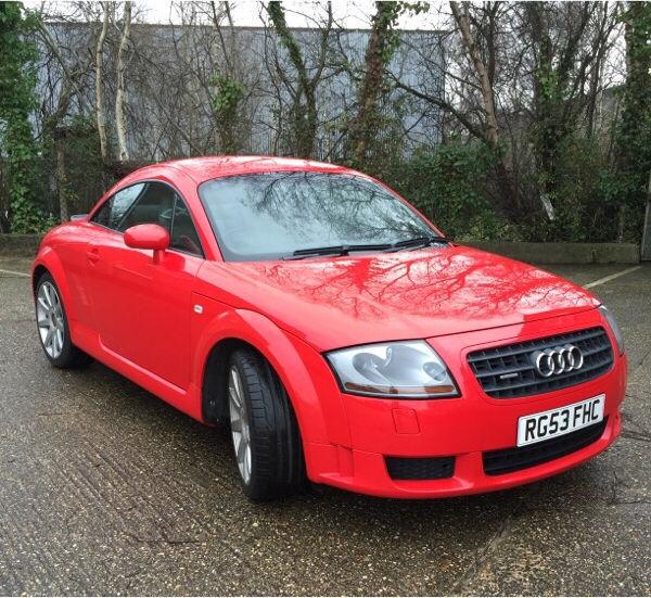 Audi 2003 TT 3.2 V6 Red Paddle Shift DSG Gears Semi Auto