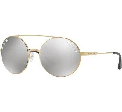 MICHAEL KORS MK1027 11936G Cabo Pale Gold Silver Mirror 55 mm Women's Sunglasses