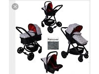 BRAND NEW push me fusion GEO 3 in 1 travel system
