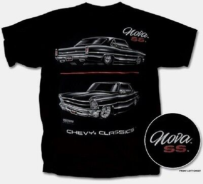 Nova Ss T Shirt Black Chevy Classics Blackline S Xl22 99 2Xl Fs New