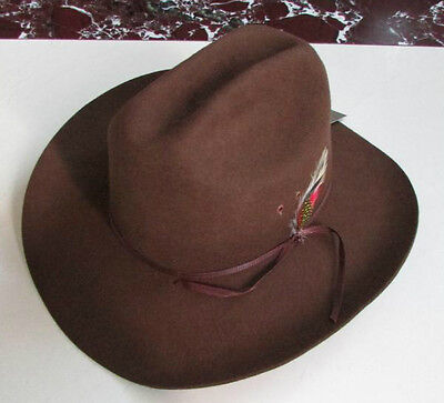 Men's/Woman's Unisex 100% WoolFelt Western Cowboy Shapeable Hat Black/Brown - Cheap Cowboy Hats For Men