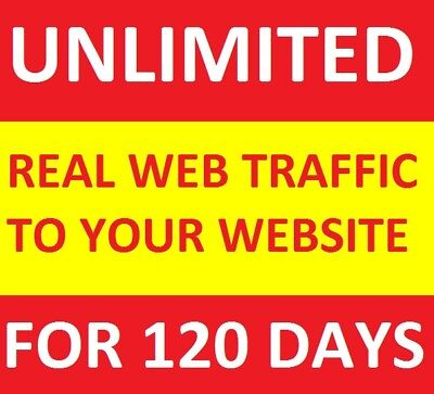 Unlimited Genuine Real Website Traffic For 4 Months120 Days For 10